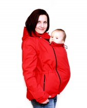Carrying jacket with detachable sleeves - red
