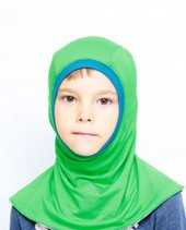 Bamboo balaclava for kids - green