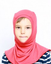 Bamboo balaclava for kids - red