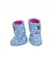 Booties - pattern/purple